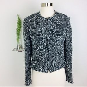 INC Women's Stylished  Black/White Wool Blazer